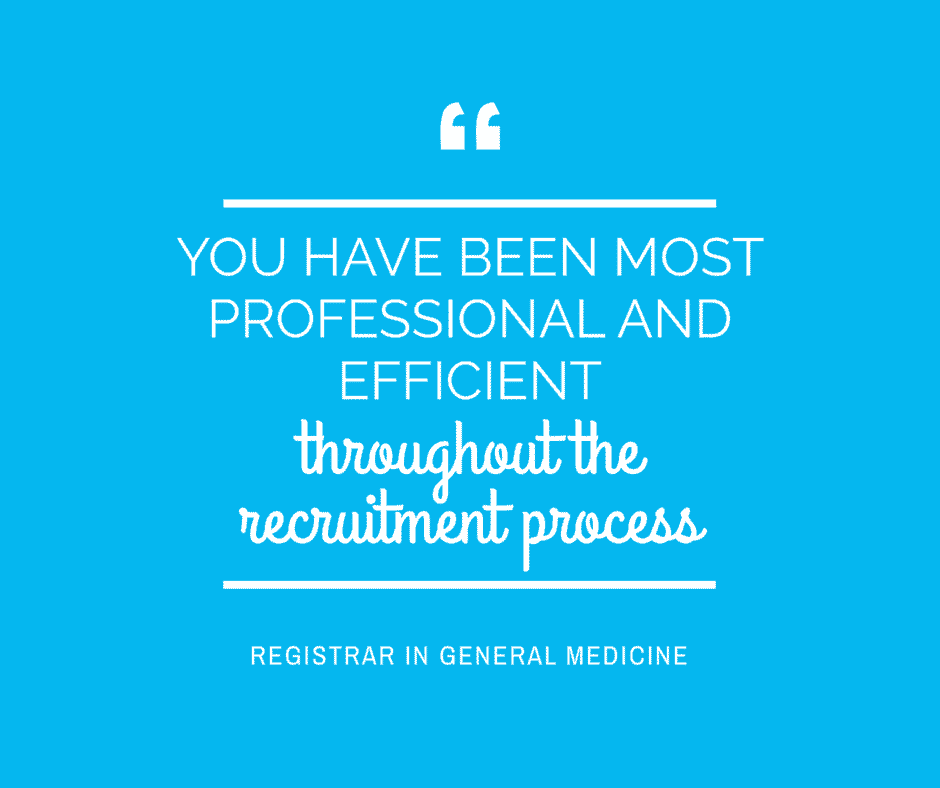 The most professional and efficient recruitment process for doctors in Australia on Sterling Healthcare Resourcing